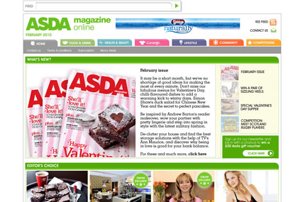 Asda's online magazine undergoing overhaul