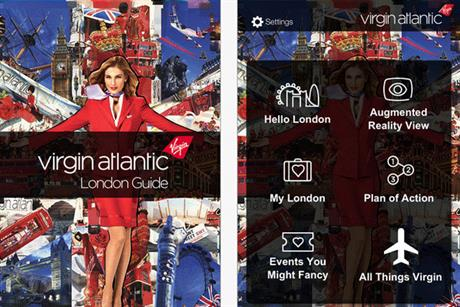 Virgin Atlantic: launches free guide to London app