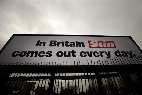 The launch of the Sun on Sunday was backed by an outdoor campaign