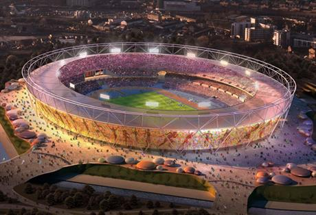 Olympic stadium: venue for the London 2012 Games opening ceremony on 27 July