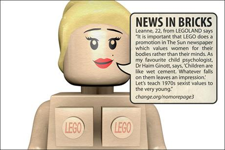 Mock Lego page 3:by No More Page 3 campaign
