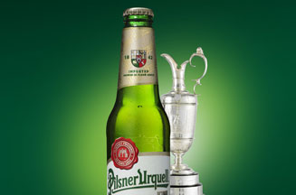Pilsner Urquell beer of The Open