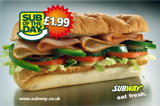 Subway's Sub of the Day