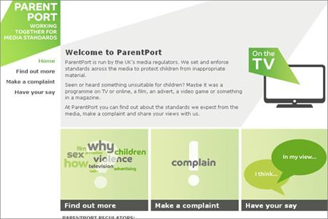 ParentPort: created to make it easier for parents to 'protect children from inappropriate material'