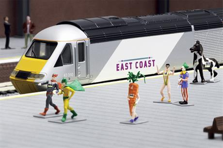 East Coast Trains: minature prices campaign