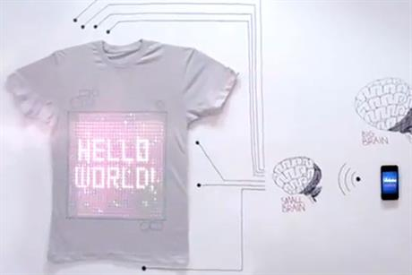 Ballantines: unveils internet-connected T-shirt