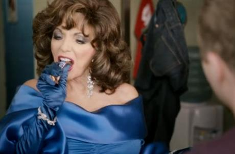 Mars: Joan Collins in Snickers' youre not you when youre hungry campaign