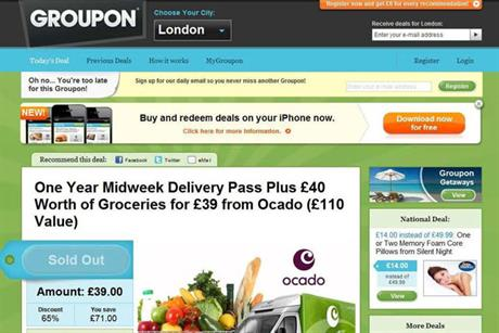 Groupon: ASA raps Ocado deal