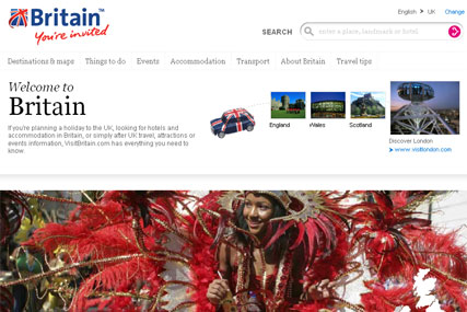 VisitBritain: online activity