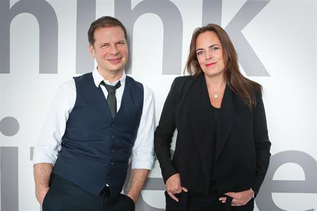 Souter (left) and Evansthe pair consider their priority as getting TBWA\London back on clients radar by re-establishing its creative credentials. Credit: Colin Stout