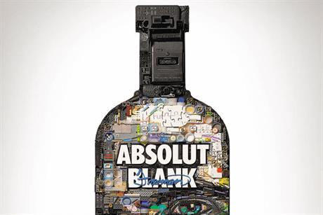 The Absolut Blank: campaign bottle by Zac Freeman