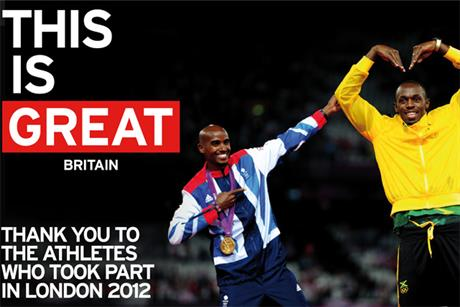 GREAT ad: Mo Farah and Usain Bolt feature in outdoor campaign