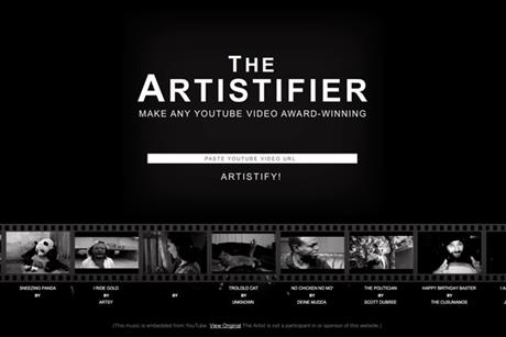 The Artisifier website