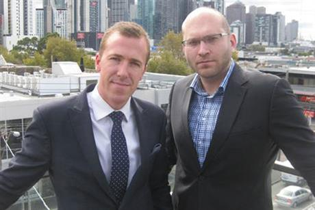 Vizeum: Travis Day, left, and David Campbell launch Melbourne office