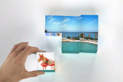 Expedia: new ad features holiday building blocks theme