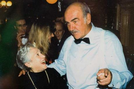Elena Salvoni with Sean Connery at L'Etoile restaurant
