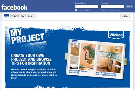 Wickes: launches My Project app on Facebook