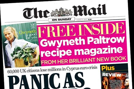 Mail on Sunday: readies launch of Event magazine