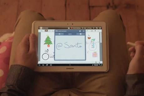 Galaxy Note: unveils Santa's quest