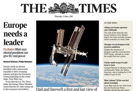 The Times…news titles are looking to offset dwindling print revenues