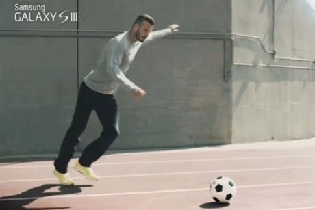 Samsung: David Beckham in the Galaxy S III 2012 Olympics ad