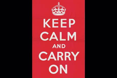 46. 'Keep calm and carry on' poster