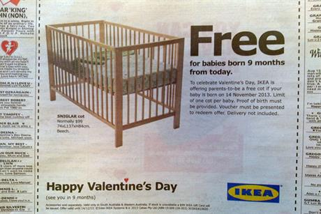 Ikea: runs Australian promotion