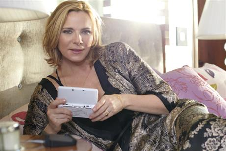 Kim Cattrall: promotes Nintendo 3DS