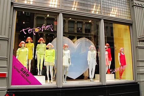 Topshop: part of Sir Philip Green's Arcadia group