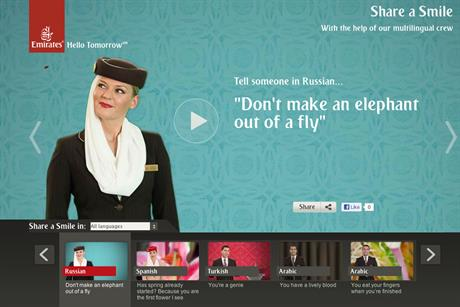 Emirates: share a smile campaign