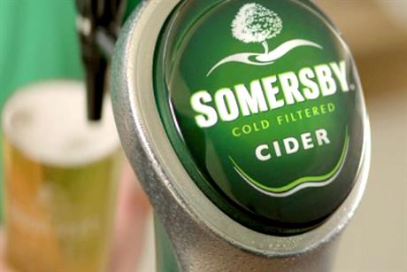 Somersby: plans high-profile TV, press and outdoor campaign