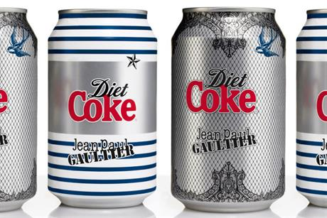 Diet Coke: unveils Jean Paul Gaultier packaging