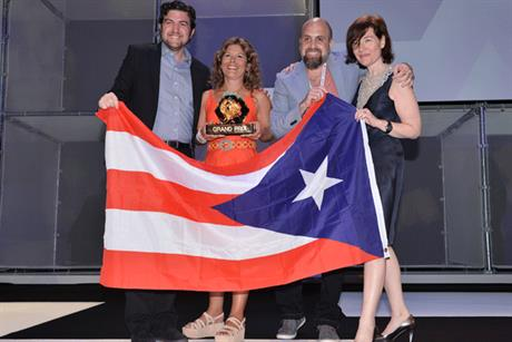 PR top prize: winners JWT San Juan