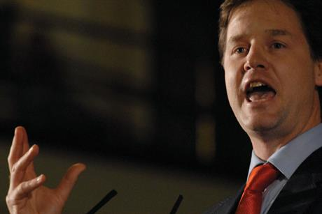 Nick Clegg: at loggerheads with his party