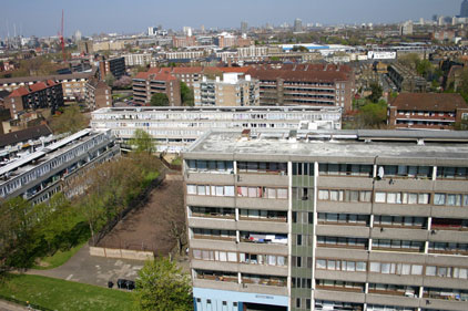 Underprivileged Aylesbury Estate, south east London, is often linked with poverty