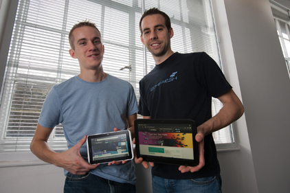 Swiftkey founders: Jon Reynolds (left) and Dr Ben Medlock