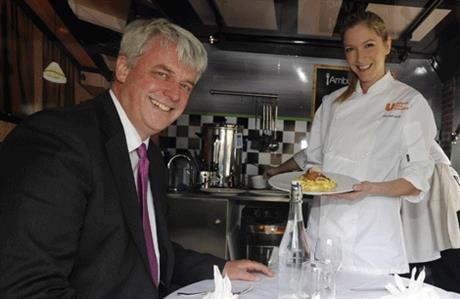Andrew Lansley:Served up by Lisa Faulkner