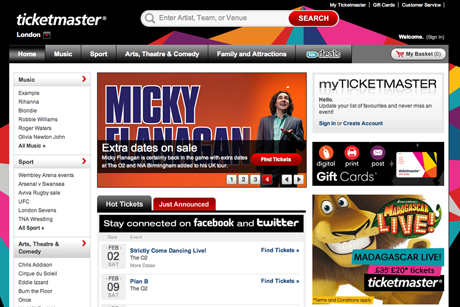Ticketmaster.com: looking to be industry leader in online ticketing