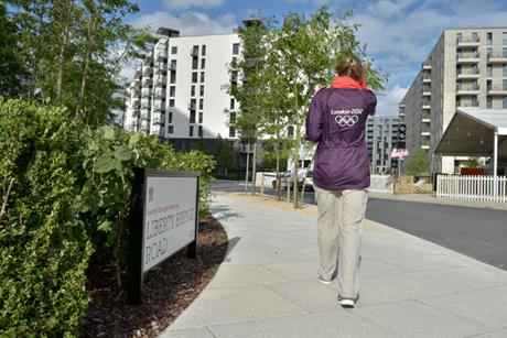 Olympic village: open to the media