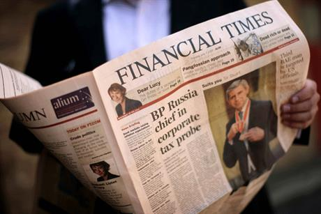 Little impact: The FT covered just 15 per cent of surveys