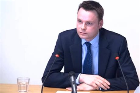 Adam Smith: gave evidence at the Leveson enquiry yesterday