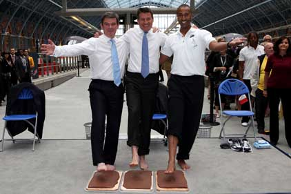 Sponsor launch: Hugh Robertson, Lord Coe and Colin Jackson