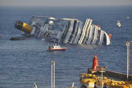 Costa Concordia: ran aground off the Italian coast (Rex Features)