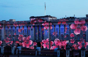 Projections onto Buckingham Palace for the Jubilee
