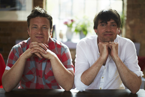 Jamie Oliver and Alex James