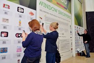 Ocado's virtual shopping wall