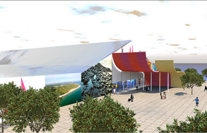 Artists impression of the pavillion