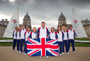 Ready for action: Team GB sailors