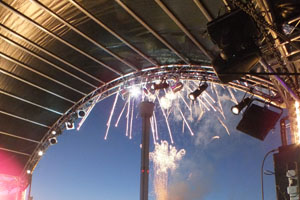 SXS provided production at the Bayside festival