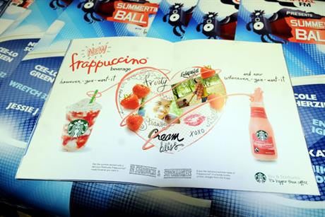 Frappuccino: sponsorship and promotion at Capital FM Summertime Ball